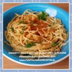 Spaghetti aglio e olio con la bottarga di muggine